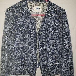 Aztec Print Denim Jacket